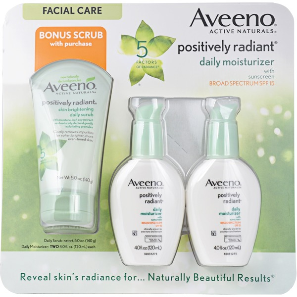 Aveeno Positively Radiant Moist SPF 15 Daily Moisturizer Set