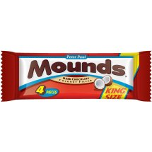 Mounds Dark Chocolate Coconut Filled King Size Candy Bar, 4 count, 3.5 oz