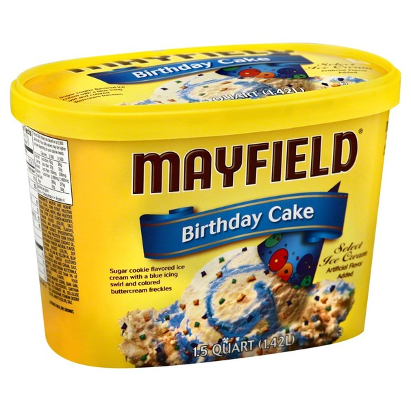 Mayfield Birthday Cake Select Ice Cream Tub
