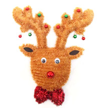 21 2D Tinsel Reindeer Wreath Decoration
