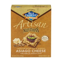 Blue Diamond Almonds Artisan Nut-Thins Asiago Cheese Cracker Snacks