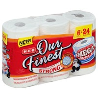 H-E-B Our Finest Ultra Strong Bath Tissue Mega Rolls