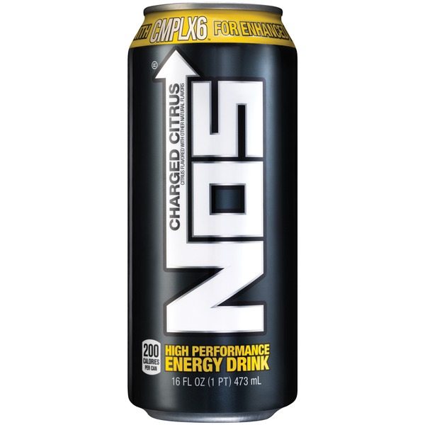 Nos Charged Citrus High Performance Energy Drink