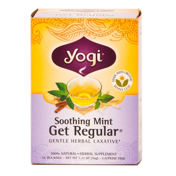 Yogi Soothing Mint Get Regular Gentle Herbal Laxative Tea