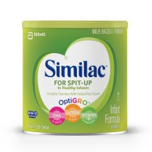 Similac for Spit Up Infant Formula with Iron, With Rice Starch, Baby Formula, Powder, 12 oz