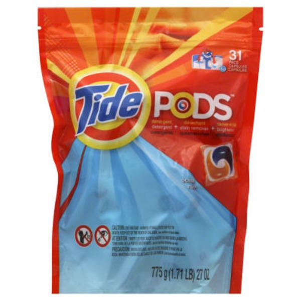 Tide PODS HE Turbo Laundry Detergent Pacs, Ocean Mist Scent, 31 count Laundry
