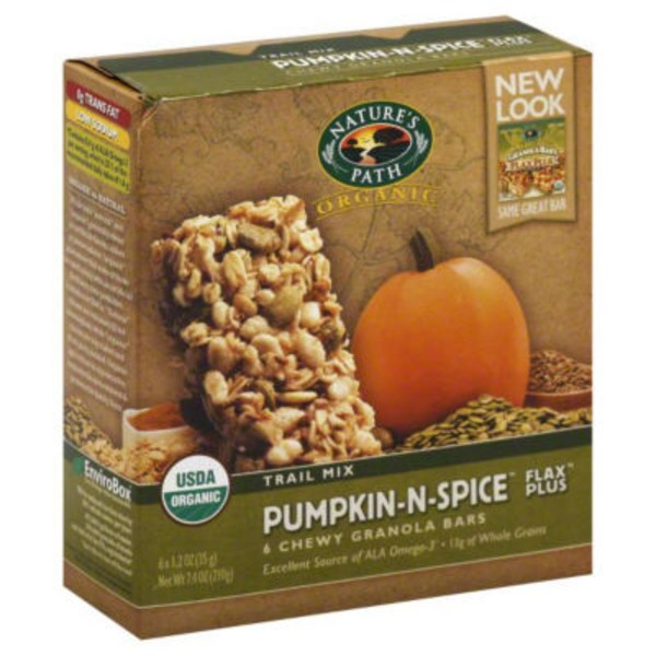 Nature's Path Chewy Granola Bars Trail Mix Pumpkin-N-Spice - 6 CT