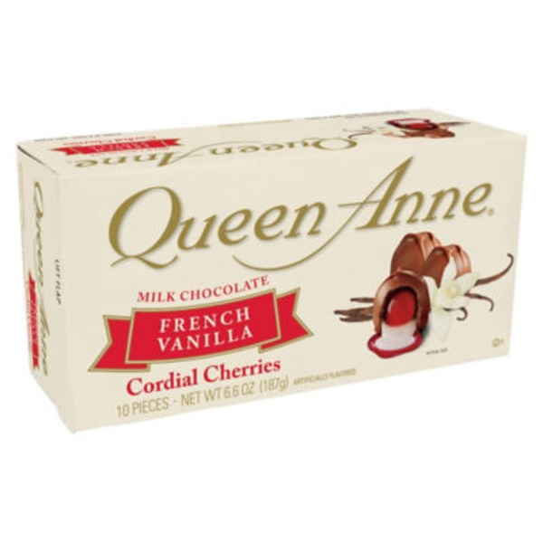 Queen Anne Milk Chocolate French Vanilla Cordial Cherries