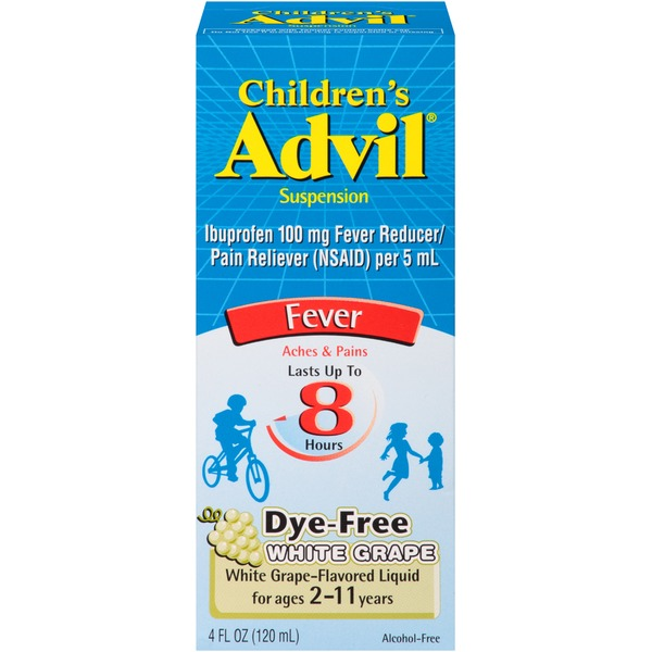Advil Children's Grape Suspension Fever Reducer/Pain Reliever