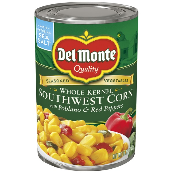 Del Monte Whole Kernel Southwest with Poblano & Red Peppers Corn