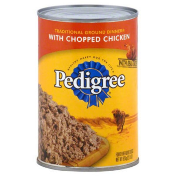 Pedigree Meaty Ground Dinner with Chopped Chicken Wet Dog Food