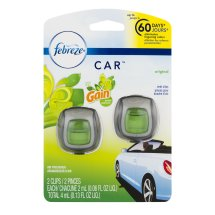 Febreze Car™ Original with Gain™ Scent Vent Clips Air Freshener 0.13 fl. oz. Carded Pack