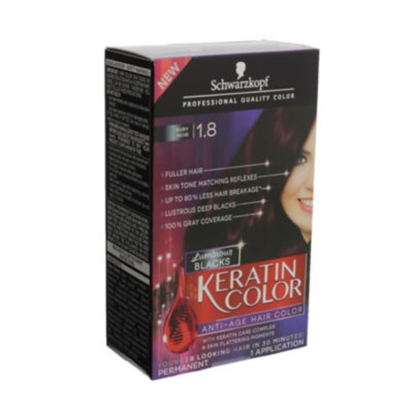 Keratin Color Anti-Age Luminous Blacks 1.8 Ruby Noir Hair Color
