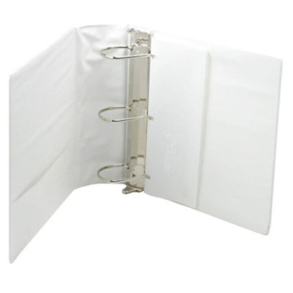 Samsill 4 Inch White Heavy Duty View Binder