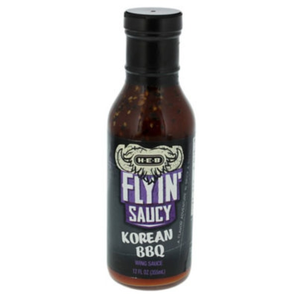 H-E-B Flyin' Saucy Wing Sauce Korean Bbq Medium