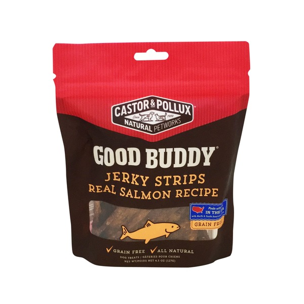 Castor & Pollux Good Buddy Jerky Strips Real Salmon Treats