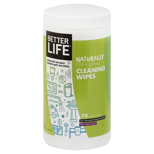 Better Life Cleaning Wipes, Clary Sage & Citrus