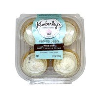 Kimberley's Bakeshoppe Gourmet Cupcakes Filled With Sweet Vanilla Creme