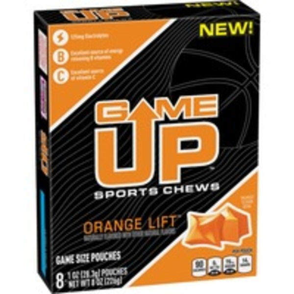 Game Up Orange Lift Sports Chews