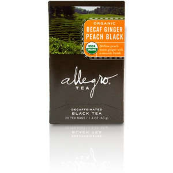 Allegro Coffee Organic Decaf Ginger Peach Black Tea