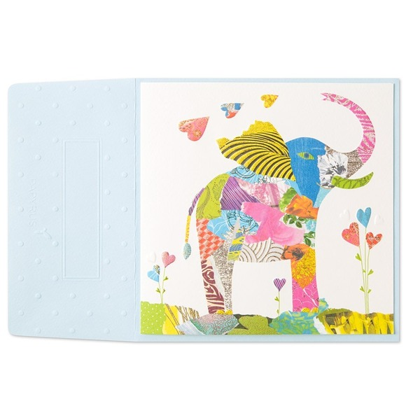 Papyrus Collage Elephant Card
