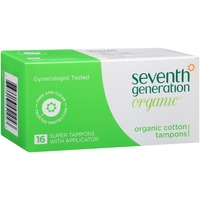 Seventh Generation Free & Clear Organic Cotton Super with Applicator Tampons