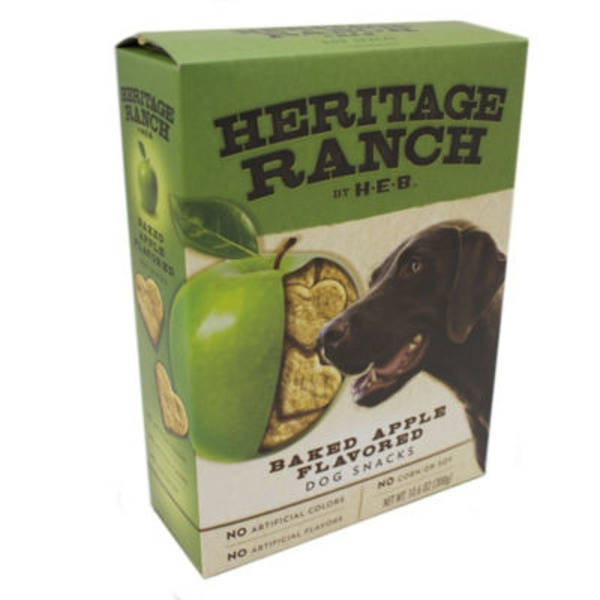 H-E-B Heritage Ranch Baked Apple Flavored Dog Snacks