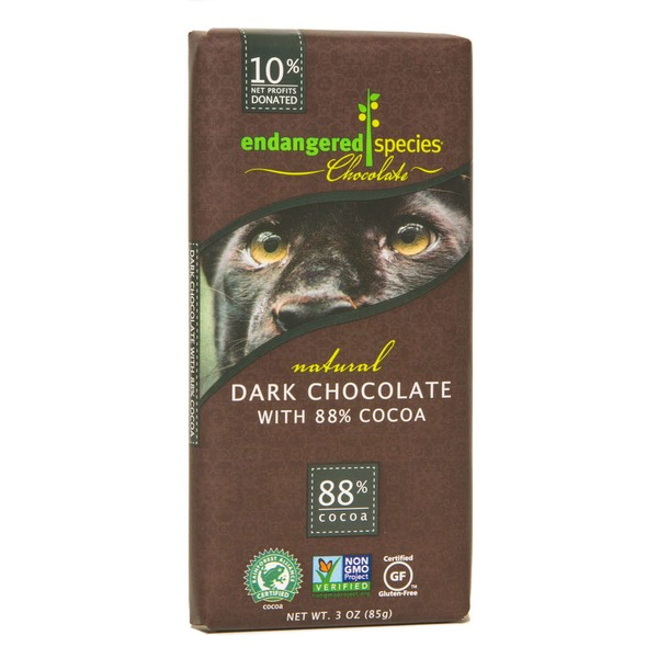 Endangered Species Chocolate Dark Chocolate With 88% Cocoa