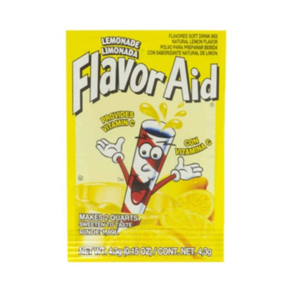 Flavor Aid Unsweetened Lemonade Drink Mix