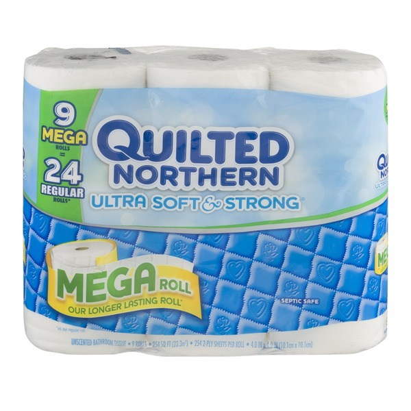 Quilted Northern Ultra Soft & Strong Unscented Bathroom Tissue Mega Rolls - 9 CT