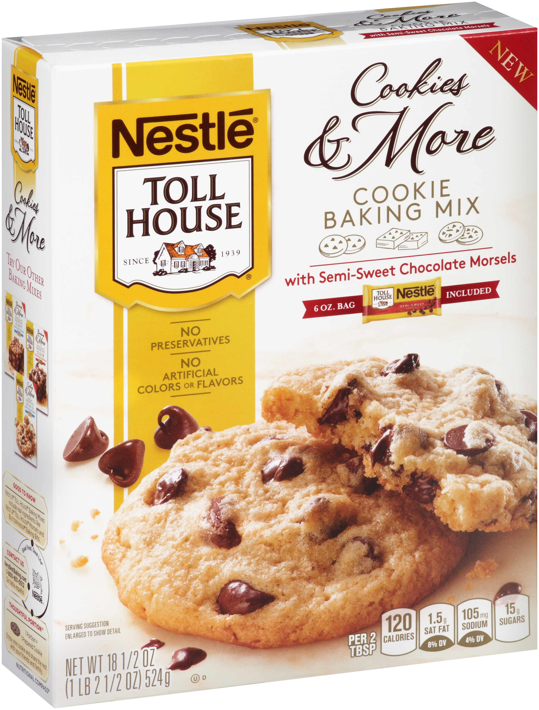 Nestle TOLL HOUSE Cookies & More Cookie Baking Mix with Semi-Sweet Chocolate Morsels