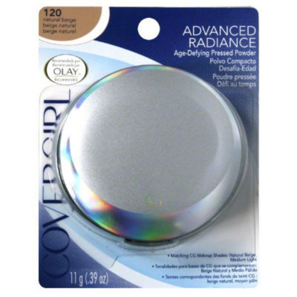 CoverGirl Advanced Radiance COVERGIRL Advanced Radiance Age-Defying Pressed Powder, Natural Beige .39 oz (11 g) Female Cosmetics