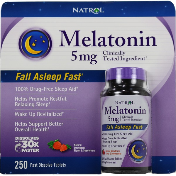 Natrol Fast Dissolve Melatonin 5 mg Tablets