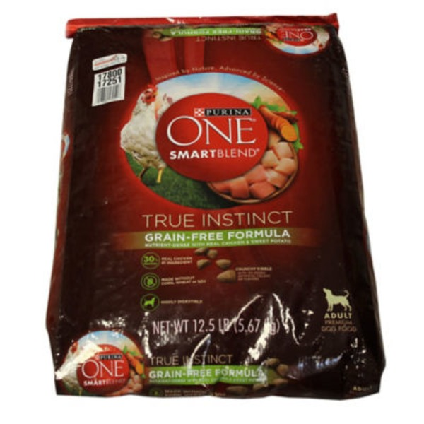 Purina One Dog Dry True Instinct Grain-Free Formula Nutrient-Dense with Real Chicken & Sweet Potato Adult Dog Food
