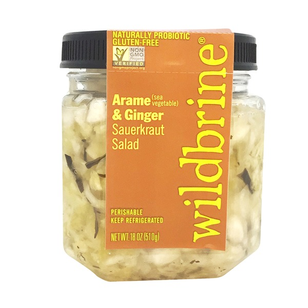 Wildbrine Sauerkraut Salad, Arame (Sea Vegetable) & Ginger