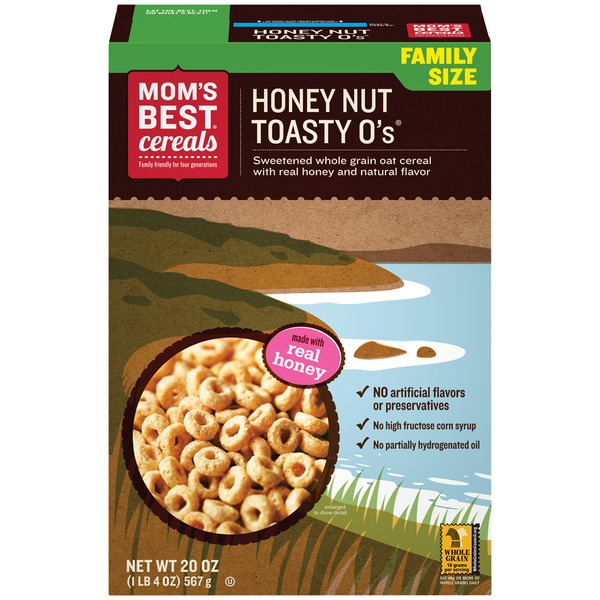 Mom's Best Cereals Honey Nut Toasty O's Cereal