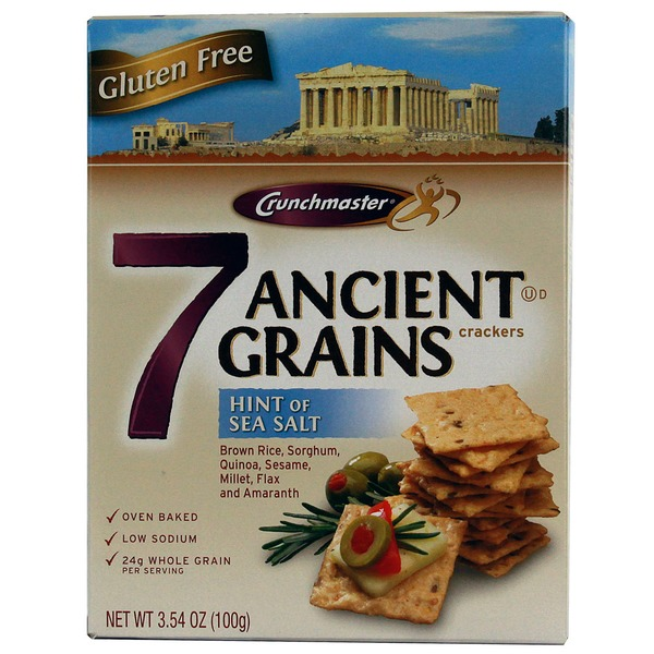 Crunchmaster Gluten Free Sea Salt Ancient Grains Crackers