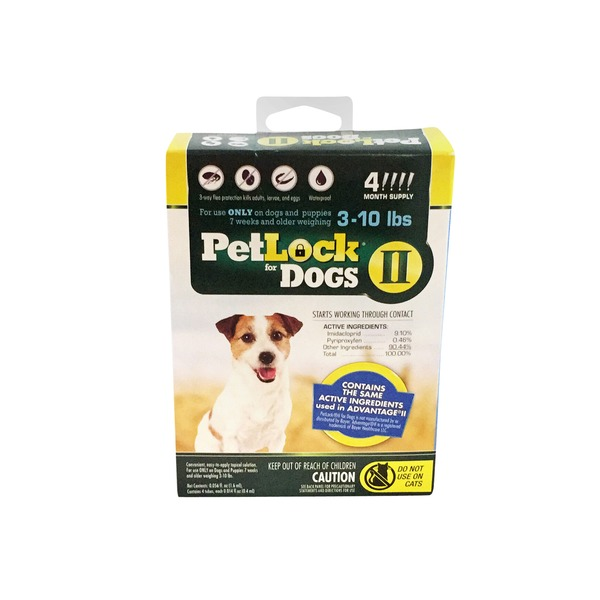 PetLock Flea & Tick Treatment For Dog 3-10 Lbs