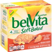 Nabisco belVita Soft Baked Breakfast Biscuits Oats & Peanut Butter - 5 PK, 1.76 OZ