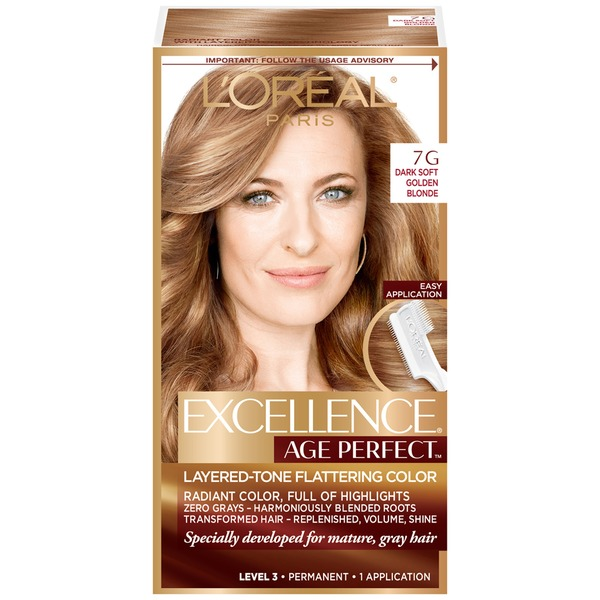 Excellence Age Perfect 7G Dark Natural Golden Blonde Layered-Tone Flattering Color