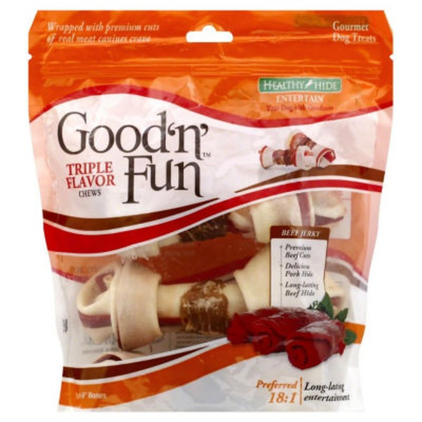 Healthy Hide Good 'n' Fun Triple Flavor Dog Chews