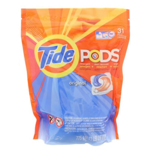 Tide PODS Laundry Detergent, Original, 31 count, Designed for Regular and HE Washers Laundry