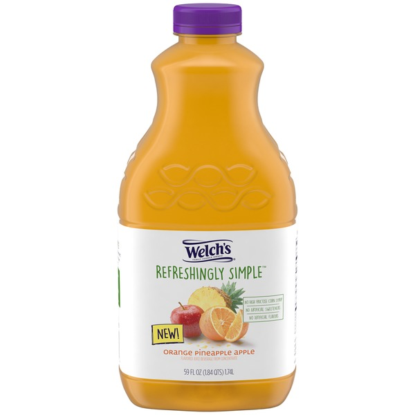 Welch's Refreshingly Simple Orange Pineapple Apple Flavored Juice Beverage