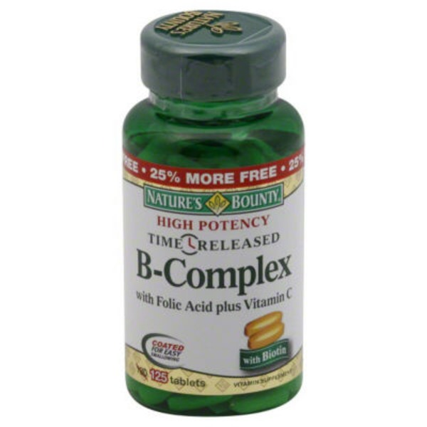 Nature's Bounty B-Complex Time Released - 125 CT