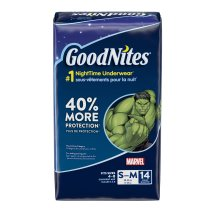GoodNites Bedtime Bedwetting Underwear for Boys, Size S/M, 14 Count