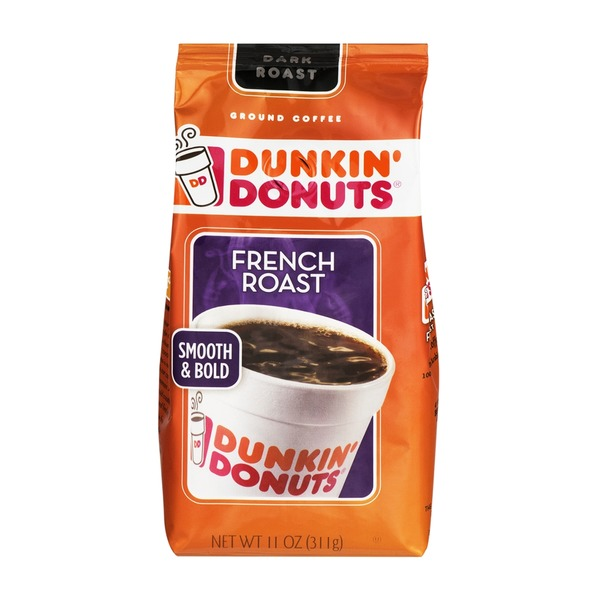 Dunkin' Donuts Ground Coffee French Roast Dark Roast