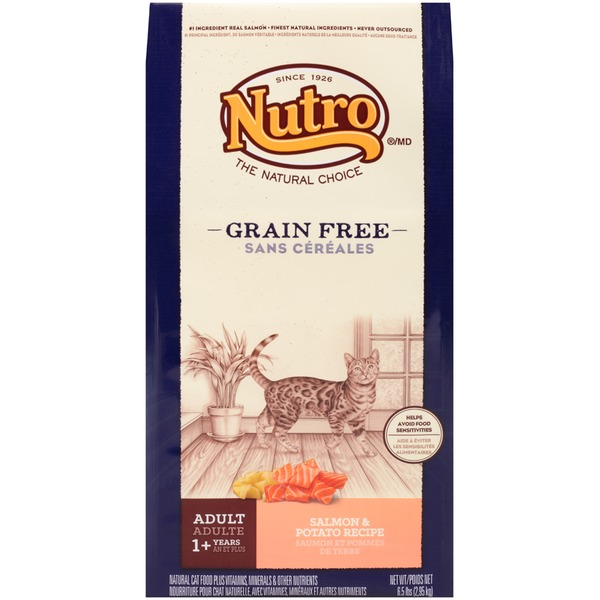 Nutro Grain Free Adult Salmon & Potato Recipe Dry Cat Food