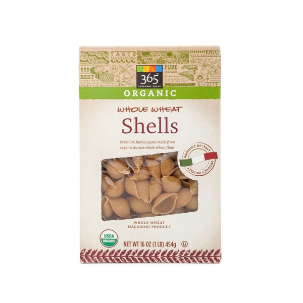 365 Organic Whole Wheat Pasta Shells