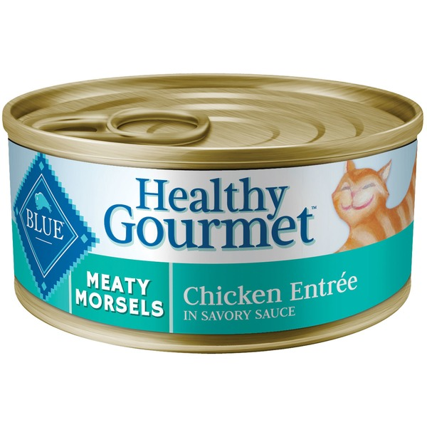 Blue Buffalo Cat Food, Moist, Healthy Gourmet, Meaty Morsels, Chicken Entree, Can