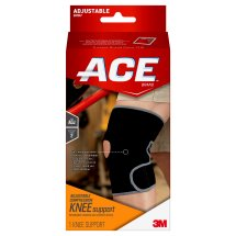 ACE Knee Support, Adjustable, Black/Gray, 1/pack